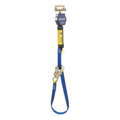 DBI/SALA 3101365 9' Nano-Lok Tie-Back Self-Retracting Nylon Web Lifeline With WRAPABAX Gated Snap Hook And Aluminum Carabiner - Self Retracting Web