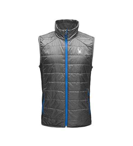 Spyder Men's Glissade Primaloft Insulator Vest, Polar/Black/Turkish Sea, Large ()