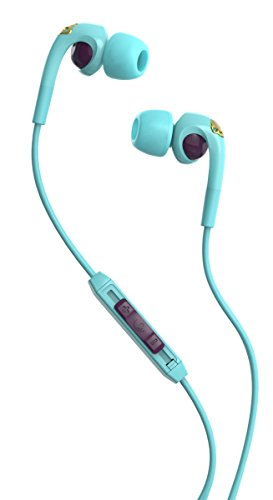 Skullcandy S2FXGM-396 Bombshell Women's In-Ear Headphones with Earbud, Mic & Remote, Robin/Smoked Purple/Gold