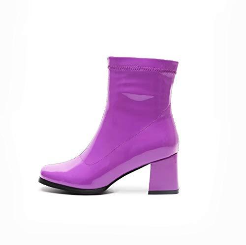 Bottes Purple Talons Hauts à Femmes TwRcvOURqZ