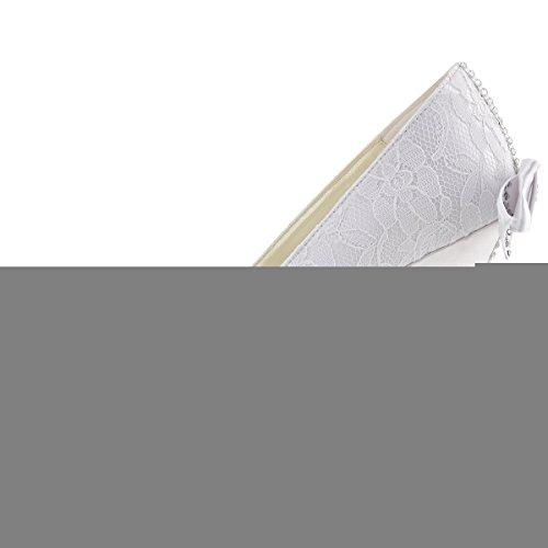 Zeppa Alto Strass Scarpe Bianco Da Sposa Wp1414 Partito Donna Tacco Elegantpark Toe Carco Pizzo Peep 4gxSqHw