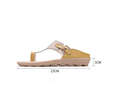 pour Décontractées Enceintes Yellow Chaussures Plates Femmes Femmes BFMEI de Maman Wedges pour Pantoufles Sandales Confortables Sandales Antidérapantes TOXwTWZq