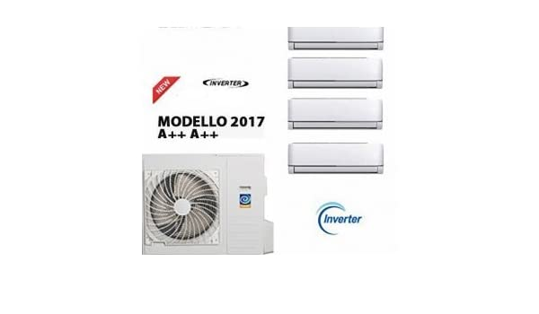 Aire acondicionado cuadros Split 9000 + 12000 + 12000 + 12000 + unidad externa nuevo modelo 2017: Amazon.es: Hogar