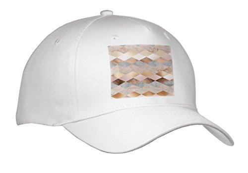 3dRose Uta Naumann Faux Glitter Pattern - Image of Abstract Trendy Geometrical Copper Marble Polygonal Argyle Pattern - Caps - Adult Baseball Cap (Argyle Embroidered Cap)