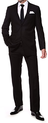 Ferrecci-Zonettie Mens 2 pc 2 Button Premium Slim Fit Suits