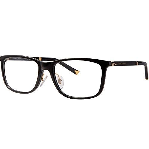 Jimmy orange eyeglasses clear lenses Tr90 spectacle frame jo514 (black, clear)