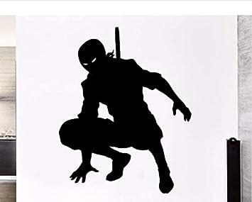 Etiqueta de La Pared negro Japón Samurai Ninja Sombra ...