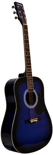 Huntington GA41PS-BLS Acoustic Guitar Dreadnaught Steel String with 1 String Winder, 2 String Sets and 3 Premium Picks, Blueburst