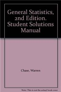 general statistics solutions manual warren chase fred bown rh amazon cn Chase Bank Warren Chase Warren Football