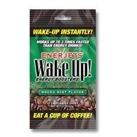 Enerjets Wake up Energy Booster Drops, Mocha Mint Flavor - 12 Caffeinated DRO.