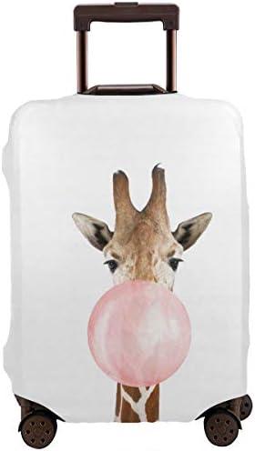 鹿かわいい 動物 風船 スーツケースカバー 伸縮素材 保護 盗難防止 防塵 かわいい カバー キズから保護 洗える おしゃれ かわいい 人気 旅行 海外 便利 ジッパー