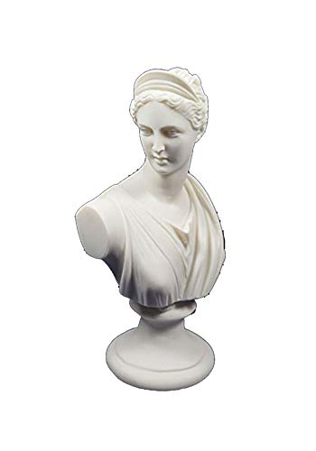 (Estia Creations Artemis Diana Bust Sculpture Ancient Greek Goddess of Hunt Statue)