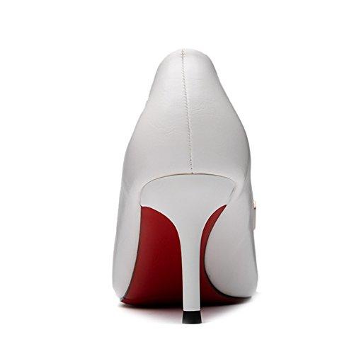 Hoxekle Vrouwen Sexy Hoge Hakken Stiletto Pumps Lente Mode Nieuw Element Schoenen Wit