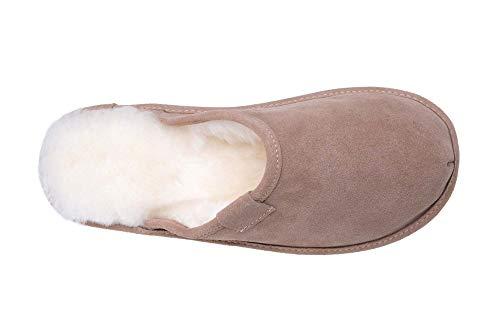 Avec Chaussons Mouton Laine W74l Chaud Beige Femmes De Luxe Vogar Blanc Pantoufles Doublure Peau B6qYZ06wI
