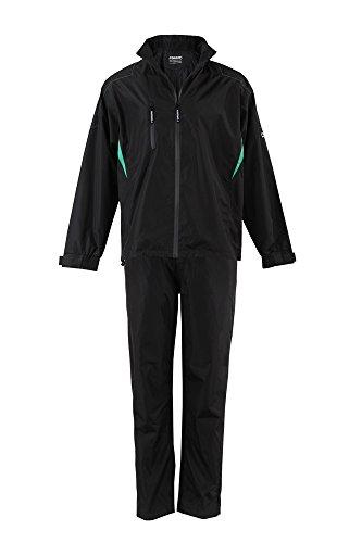 Forgan Golf 100% Waterproof Breathable Mens Rainsuit Black