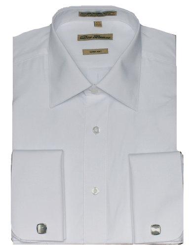 White French Cuff Dress Shirt (Cufflinks Included) Many Sizes Available