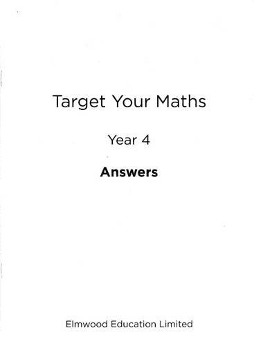 Download Target Your Maths Year 4 Answer Book: Year 4 pdf