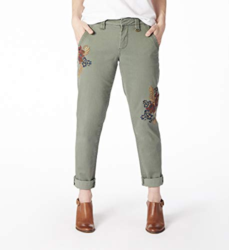 Women Floral Embroidery Jeans photo