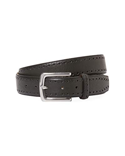 Cole Haan Mens Perforated Trim Leather Dress Belt, 40