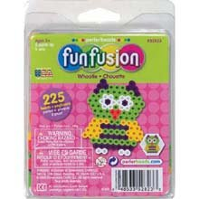 Perler Fuse Bead Activity Kit, Fun Fusion/Whootie (Fun Shapes Fuse Bead Kit)