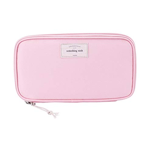 iSuperb Large Capacity Waterproof Oxford Pencil Case Stationery Pencil Pouch Bag Case Cosmetic Makeup Bag Passport Organizer Bag 8.5x4.5inch
