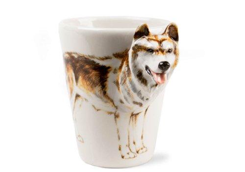 Wolf 8oz Tawny brown Handmade Coffee Mug (10cm x 8cm)