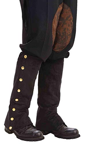Forum Novelties Men's Adult Steampunk Suede Spats Costume Accessory, Black, One - Leather Boot Forum