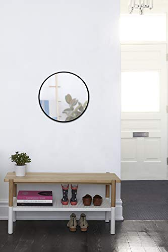 Umbra 1008243-040 Hub Wall Mirror With Rubber Frame - 24-Inch Round Wall Mirror for Entryways, Washrooms, Living Rooms and More, Doubles as Modern Wall Art, Black - LARGE, ROUND MIRROR: Hub is a 24-inch diameter mirror, with contemporary rubber frame that looks great in any room DECORATIVE RUBBER FRAME: Hub's innovative rubber frame not only adds to the look of this large wall mirror, but also doubles as a protective bumper; making it ideal for high-traffic areas or for use as a bathroom mirror BOOSTS LIGHT: Hub's large size is ideal for reflecting both natural and artificial light to help brighten any room, day or night - mirrors-bedroom-decor, bedroom-decor, bedroom - 31HqFVAcjRL -