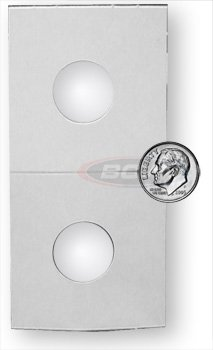 500 Count 2X2 Premium Cardboard Coin Holders (Dime) 17.9 mm.