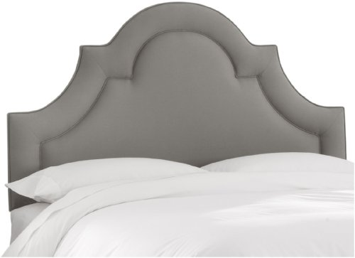 Border Queen Headboard - Skyline Queen High Arch Border Headboard, Linen Grey