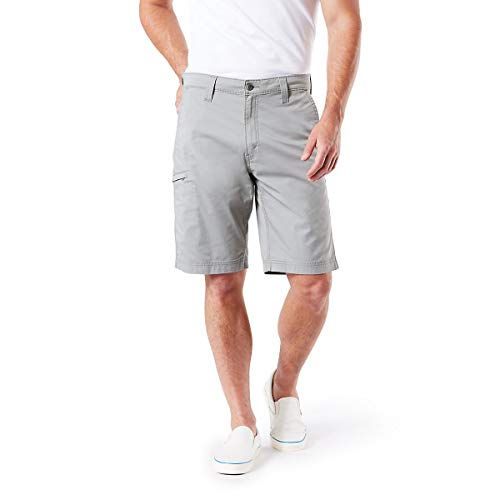 (Signature by Levi Strauss & Co Men's Straight Fit Utility Shorts, Monument 34)