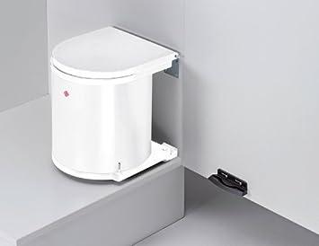 Innovativ Abfallsammler rund 15L weiß Einbaumülleimer Mülltrennsystem Küche  CK61