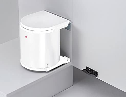 Abfallsammler Rund 15L Weiß Einbaumülleimer Mülltrennsystem Küche