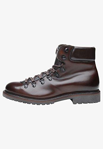 Shoepassion No. 688 Scarpe Invernali Di Alta Qualità Per Uomo. Stivali Di Pelle Piena Con Fodera Di Pelle Di Agnello E Suola In Gomma Antiscivolo. Marrone Scuro / Nero2