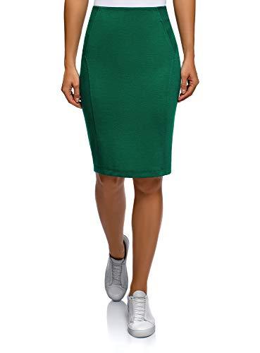en Jupe Femme Vert Ultra 6e00n Maille Crayon oodji UH8fqw