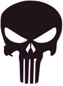 Cr/âne skull casque moto blanc autocollant sticker