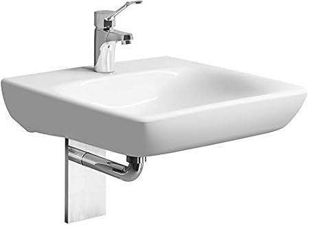Geberit Renova Nr. 1 Lavabo Comfort, accesible para sillas de Ruedas, 550x550mm, con Agujero para Grifo, sin rebosadero, Blanco, 258557, Color: Blanco - 258557000