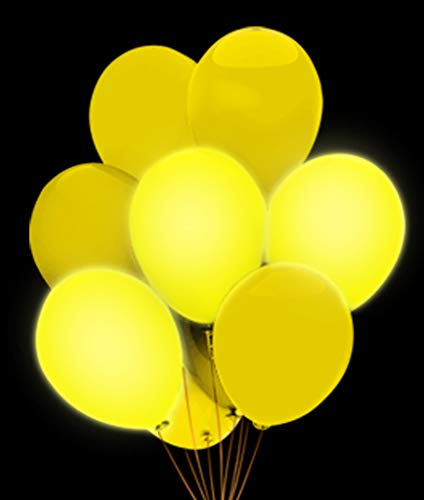 Fun Central AH951 LED Light Up 14 Inch Blinky Balloons - -