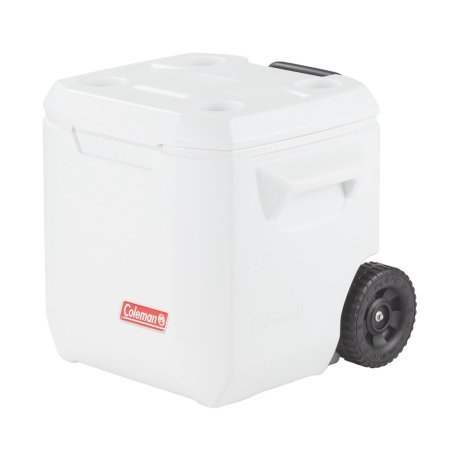 (Coleman 40 qt Cooler Wheeled White)