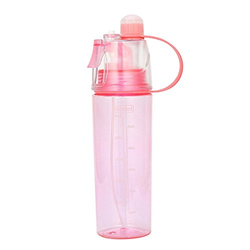 Ecosin Water Cup Sport Cycling Mist Spray Water Gym Beach Bottle Leak-proof Drinking Cup (Red)