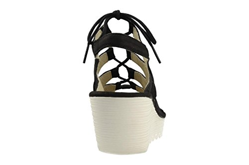 Fly London Womens Yexa916fly Wedge Sandal 003 Svart