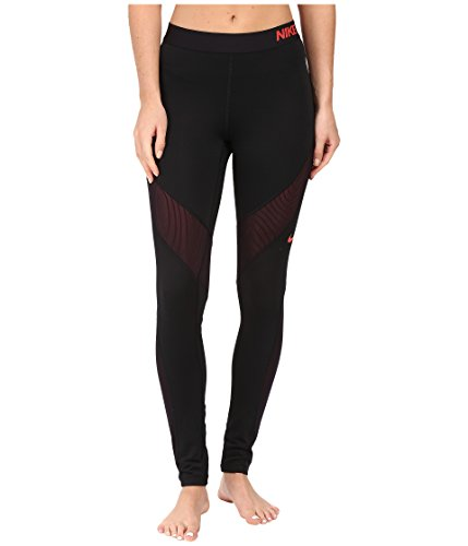 Nike Womens Pro Hyperwarm Tights Black/Ember Glow 803094-011 Size Small