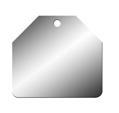 Stamping Blanks - Aluminum Cut Corner Tags (Metal Dog Tag Charms)