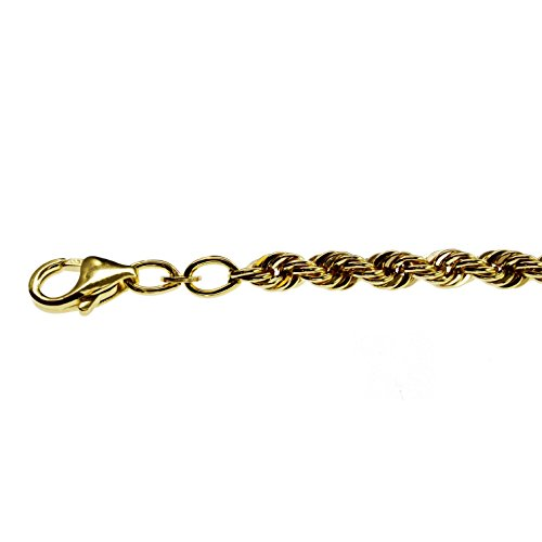 Bracelet chaîne: 4 mm - 19 cm-or jaune 333
