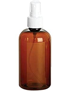 4 oz Amber PET (plastic) Empty Spray Bottle- Pack of 4