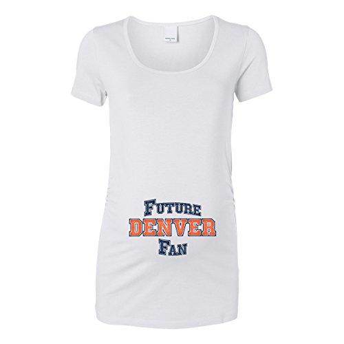 (Future Denver Fan Women's Maternity T-Shirt (White, X-Large))