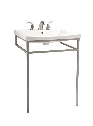 Metal Console Lavatory Sink - KOHLER K-2526-F64 Persuade Console Table, Shale