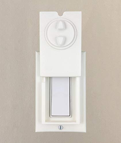 (HomeStar Safety Light Switch Guard and Cover (for a Single Rocker Switch, 3D)