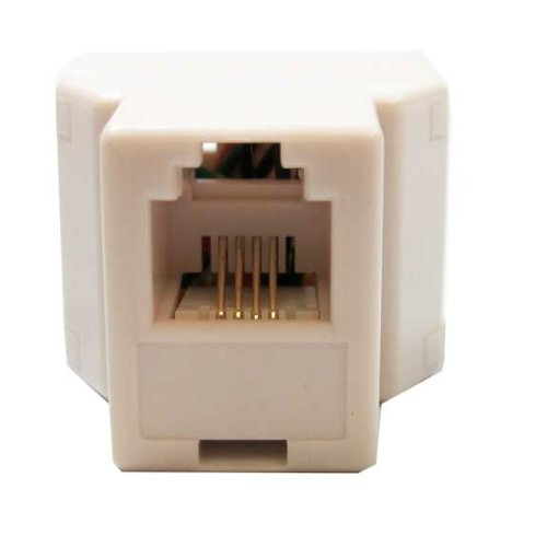 SF Cable, RJ11 6P4C 1 F/ 2F Modular T Adapter