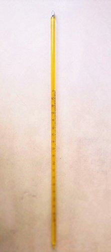 Glass Lab Thermometer -10~360 Celsius 6mm OD 300mm with Case
